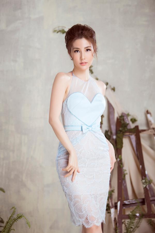 Diễm My 9x diện váy sang trọng thiết kế cùng Đỗ Long - 1
