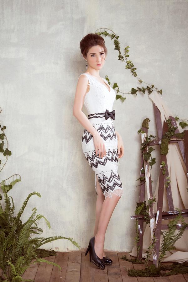 Diễm My 9x diện váy sang trọng thiết kế cùng Đỗ Long - 2