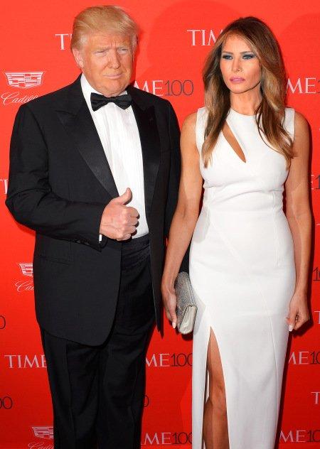 Vợ chồng tổng thống Mỹ Donald Trump. Ảnh: FilmMagic