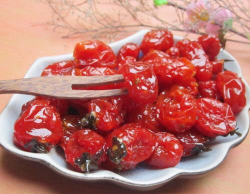 Mứt cà chua bi thành phẩm.