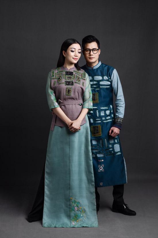 Ca sĩ Quang Dũng làm người mẫu áo dài - 6