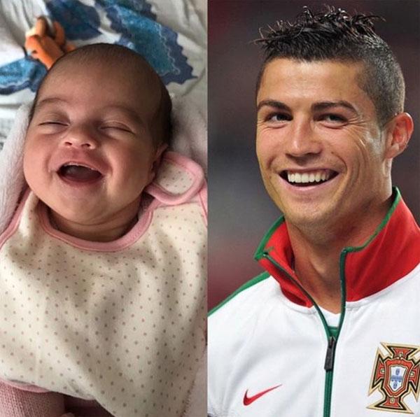 Fan đăng ảnh chứng minh con gái giống hệt C. Ronaldo