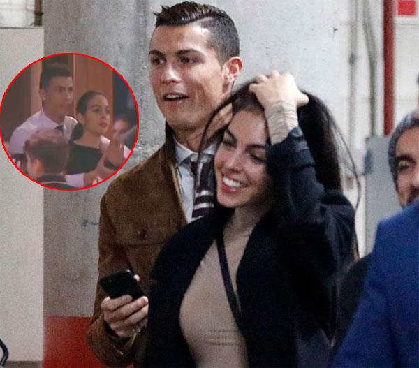 Lộ video C. Ronaldo ôm bạn gái từ phía sau đốn tim fan