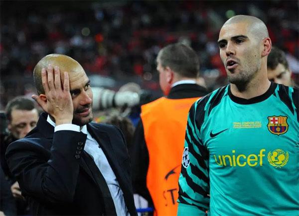 Thủ môn 35 tuổi thành công trong màu áo Barca dưới sự dẫn dắt của HLV Guardiola.