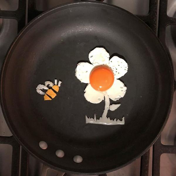 Chàng trai biến bữa sáng từ trứng thành tác phẩm nghệ thuật - 1
