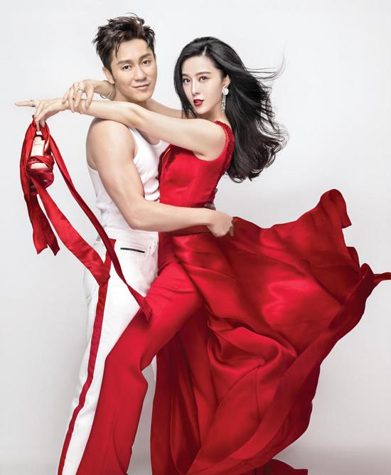 Phạm Băng Băng và Lý Thần sánh vai nhau tình tứ khi xuất hiện trên trang bìa tạp chí Elle số tháng 2.