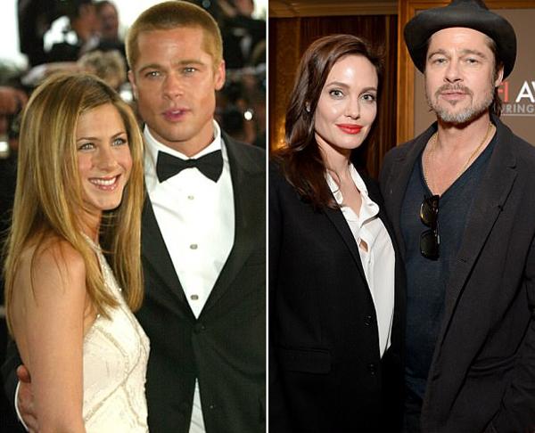 Jennifer và Angelina chiến tranh lạnh suốt nhiều năm qua vì chuyện tình cảm với Brad Pitt.