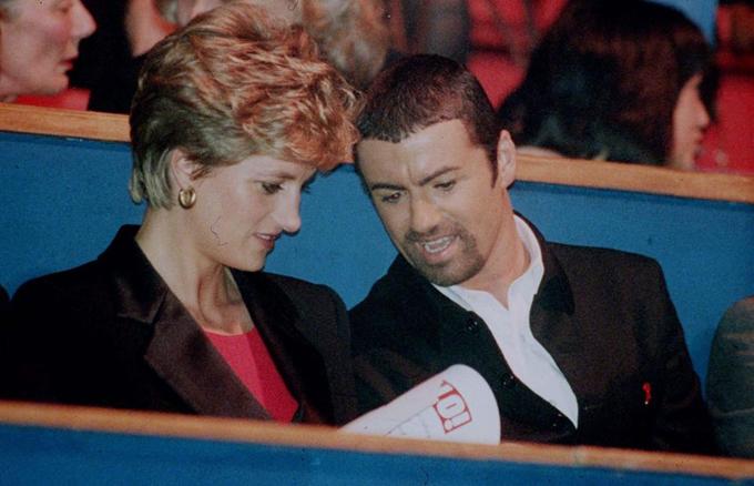 Công nương Diana vàGeorge Michael.