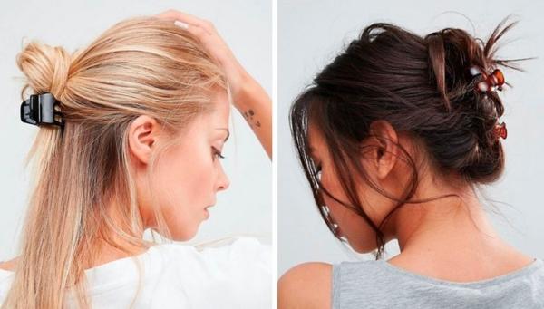 Hãy sử dụng các loại cặp tóc để tạo điểm nhấn cho kiểu tóc búi hoặc buộc nửa đầu.