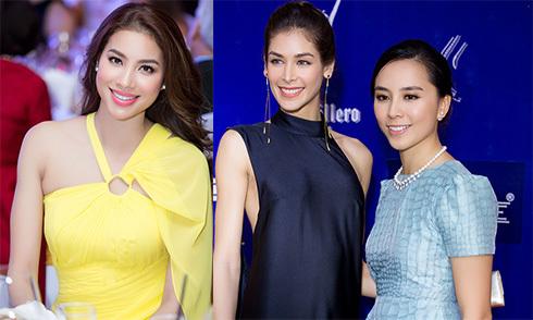 Miss Universe 2008 Dayana Mendoza dự tiệc tối cùng các người đẹp Việt Nam