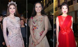 Dàn sao trên thảm đỏ đêm chung kết Hoa hậu Hoàn vũ Việt Nam 2017