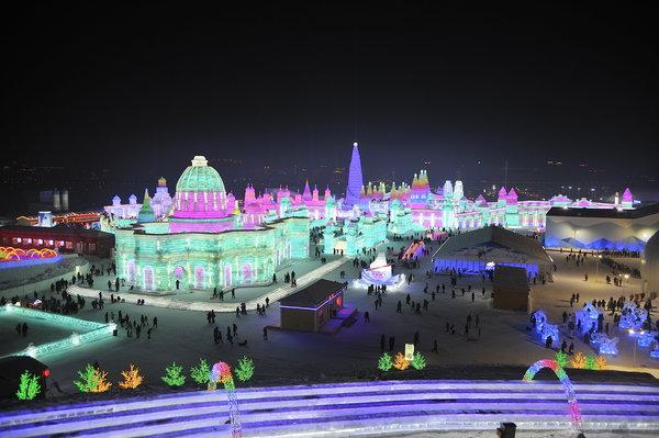 Lễ hội băng đăng lớn nhất thế giới khai trương ở Trung Quốc - 12