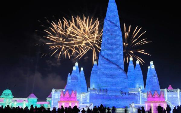 Lễ hội băng đăng lớn nhất thế giới khai trương ở Trung Quốc