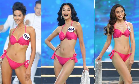 Top 15 Hoa hậu Hoàn vũ Việt Nam trình diễn bikini