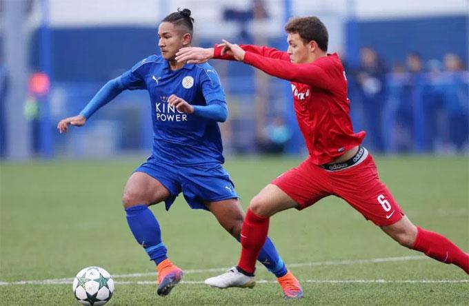 Faiq Bolkiah trong màu áo Leicester City. Ảnh: NS.