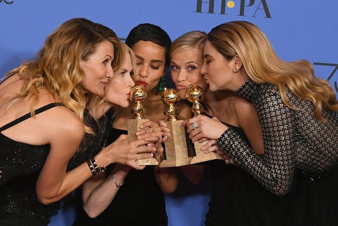 Dàn diễn viên Big Little Lies chia sẻ niềm vui chiến thắng sau lễ trao giải khi có tới 3 ngôi sao đoạt giải. Bộ phim này cũng ẵm giải thưởng Phim truyền hình ngắn tập xuất sắc.
