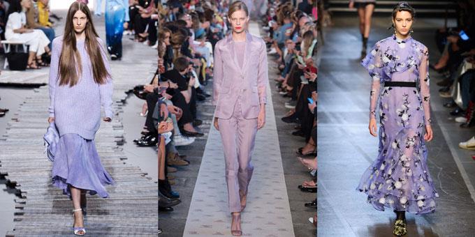 Viện màu sắc Pantone đã công bố màu tím đậm (ultra violet)sẽ là màu sắc của năm 2018, thay thế cho tone xanh lá mạ của năm 2017. Tuy nhiên, gam tím pastel haytím lavender mới thực sự là hot trends của năm nay nhờ tính ứng dụng cao cũng như không quá kén người mặc như tím đậm.