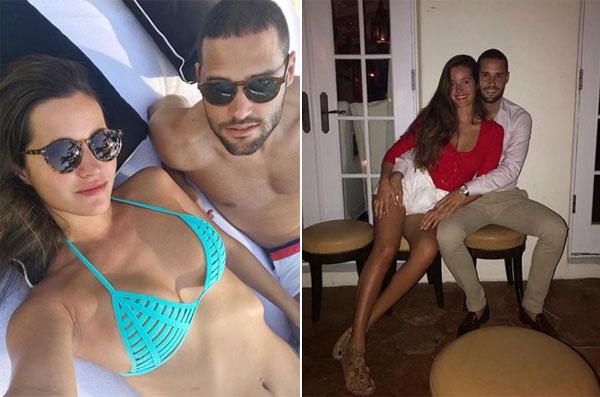 Mario Suarez và vợ tranh thủ đi nghỉ ở Mỹ khi mùa giải mớitại Trung Quốc chưa bắt đầu.