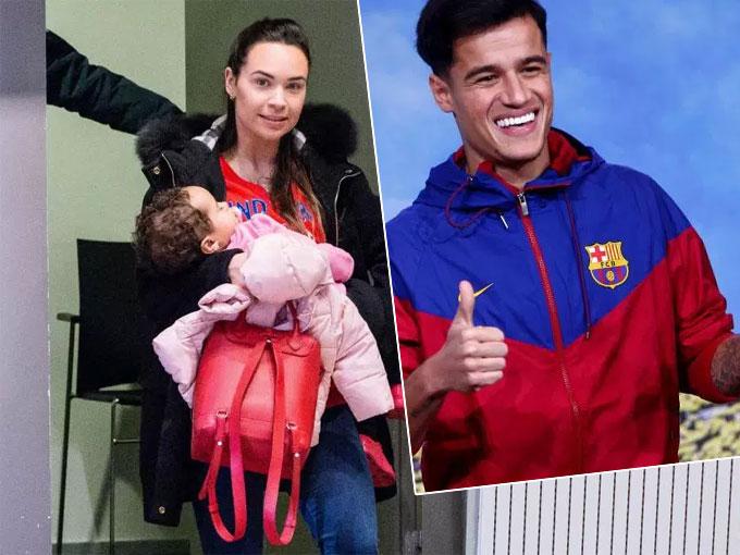 Coutinho và vợ con chuyển tới dinh thự mới tại Barcelona. Ảnh: NS.