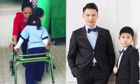 Hai ngôi sao màn ảnh Hoa ngữ bền bỉ giúp con chiến thắng khuyết tật