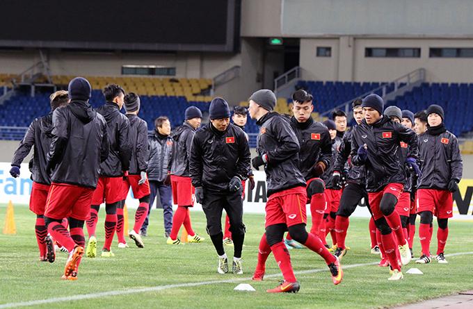 May mắn cho U23 Việt Nam là không cầu thủ nào bị cảm hoặc gặp vấn đề về sức khỏe.