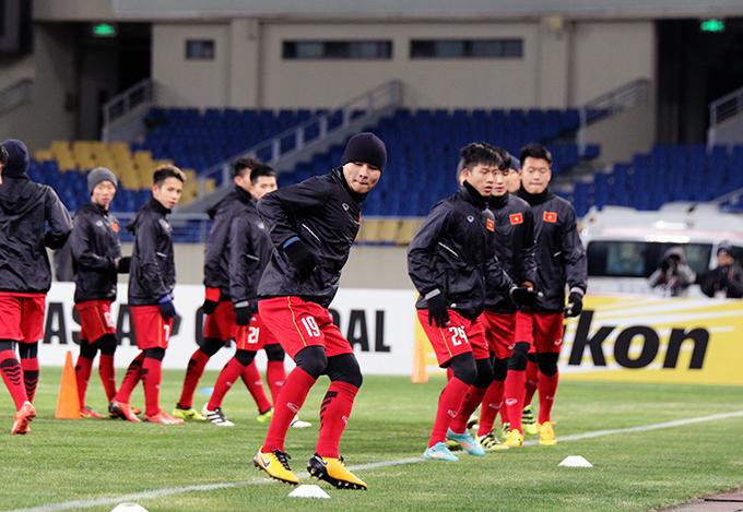 Tất cả đều tỏ ra rất sung sức và tự tin vào khả năng của mình. Các trường hợp bị chấn thương đều đã hoàn toàn bình phục, sẵn sàng ra sân nếu được HLV Park Hang Seo lựa chọn.