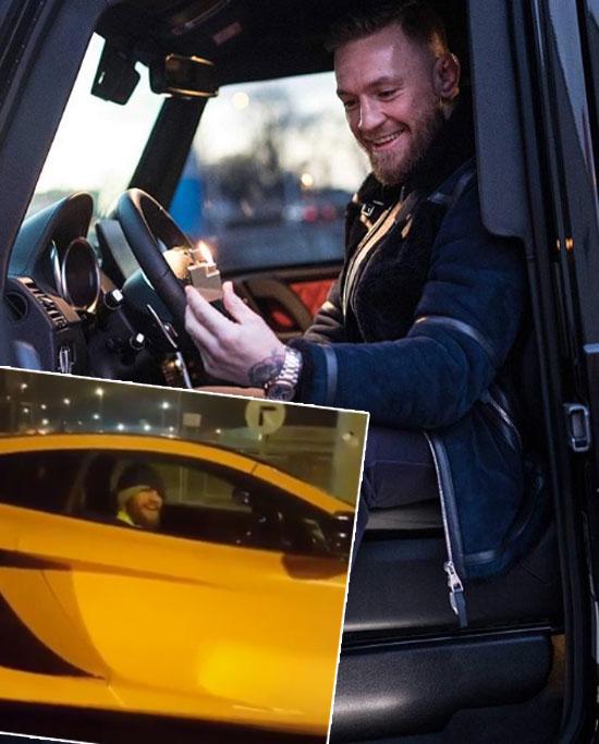 McGregor tăng tốc siêu xe liều lĩnh trên phố