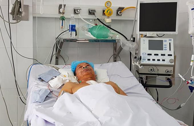 Bệnh nhân thoát cửa tử nhờ quyết định táo bạo của bác sĩ. Ảnh: B.V
