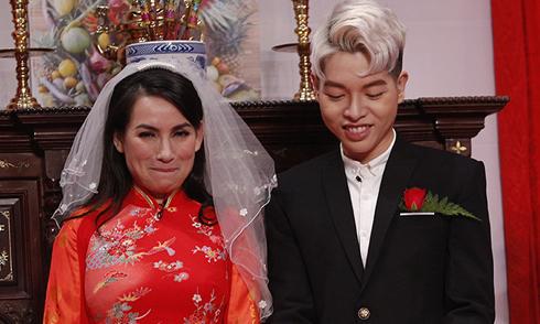 Phi Nhung ngượng khi hóa thân cô dâu của Đức Phúc