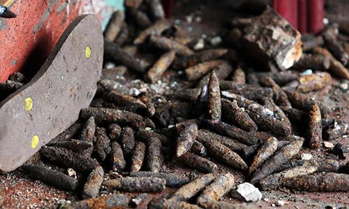 Phát hiện 2 tấn đầu đạn chất thành đống ở Hưng Yên