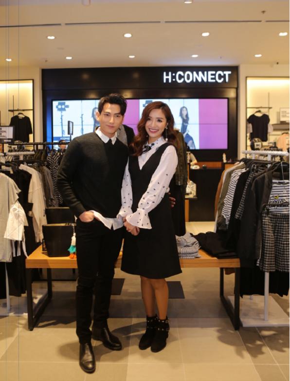 Isaac và Bích Phương diện trang phục theo phong cách thời trang Hàn Quốc của H:CONNECT.