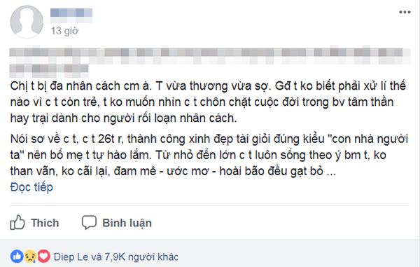 Dòng chia sẻ của Facebook M.M đang nhận được rất nhiều sự quan tâm trong cộng đồng.