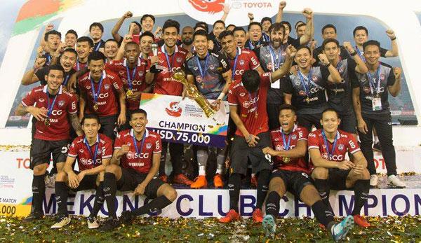 Muangthong United vô địch Mê K ông Cup 2017. Ảnh: NN.