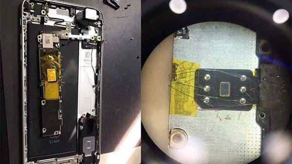 SIM ghép được gắn phía sau bảng mạch, kết nối bằng dây đồng nên rất khó phát hiện bằng mắt thường, phải tháo máy mới thấy được. Nguồn ảnh: viettelstore.vn.