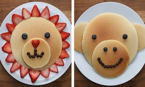Bánh pancake hình con vật ngộ nghĩnh làm nhanh gọn