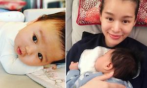 Hồ Hạnh Nhi lần đầu chia sẻ hình ảnh con trai 3 tháng tuổi