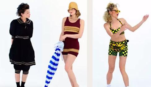 Đồ bơi nữ ngày càng kiệm vải qua 100 năm biến hóa
