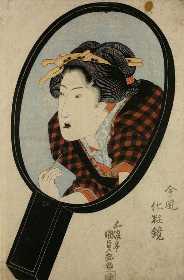 Răng màu đen Phụ nữ Nhật thế kỷ 19 duy trì phong tục nhuộm răng đen sau khi kết hôn như một sự cam kết chung thuỷ trong hôn nhân.