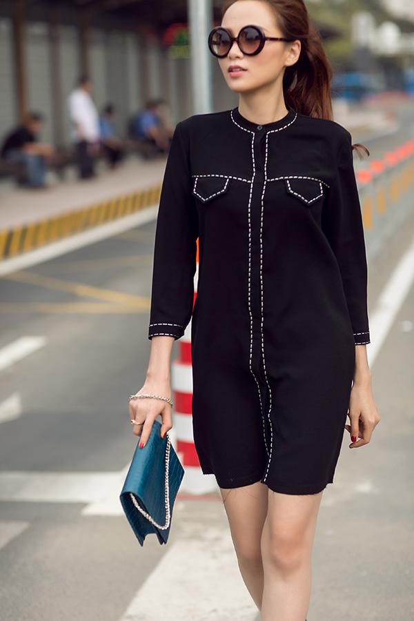 Diễm Hương thể hiện sự trẻ trung và hiện đại với các mẫu thiết kế mới nhất của Thanh Trúc Trương dành cho mùa mốt 2018.