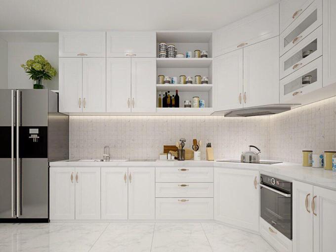 Khu vực bếp hiện đại và đẹp mắt.