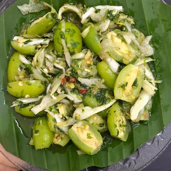 Bắp cải cuộn nhót xanh chấm chẩm chéo - 4