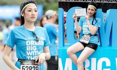 Tú Anh khoe chân dài trắng muốt khi chạy marathon