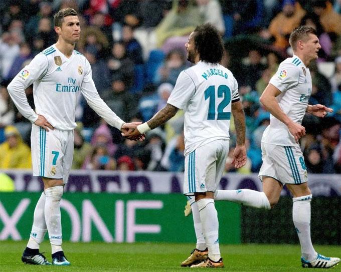 C. Ronaldo và các đồng đội trải qua giai đoạn khó khăn. Ảnh: NS.