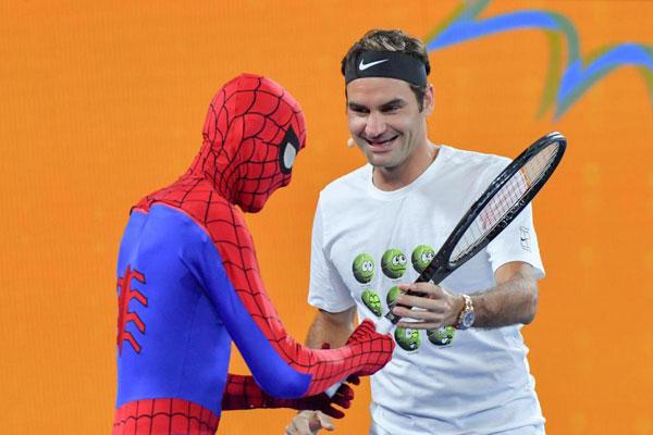 Djokovic, Federer và Wozniacki so tài cùng biệt đội siêu anh hùng - 2