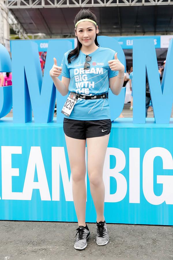 Tú Anh tham gia giải chạy Marathon TP HCM 2018. Cô đăng ký thử sức ở cự ly 5 km.