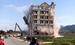Phá dỡ tòa nhà 7 tầng của trùm ma túy Tàng 'KeangNam'