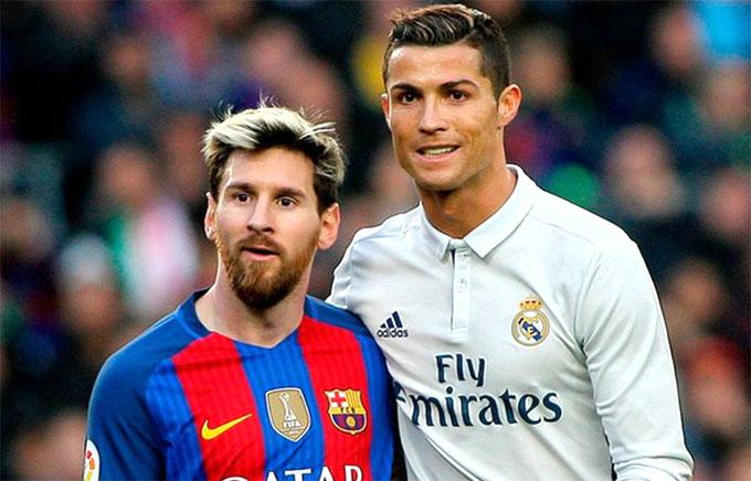 Sự thay đổi ngoại hình của C. Ronaldo và Messi. Ảnh: NS.