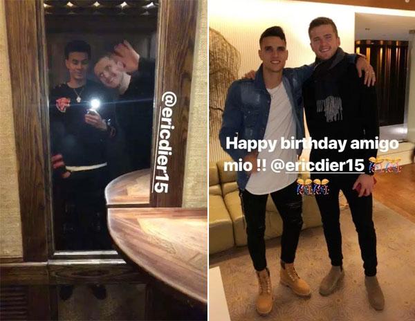 Dele Alli và Lamela đăng ảnh chụp với Eric Dier và gửi lời chúc mừng sinh nhật đồng đội.