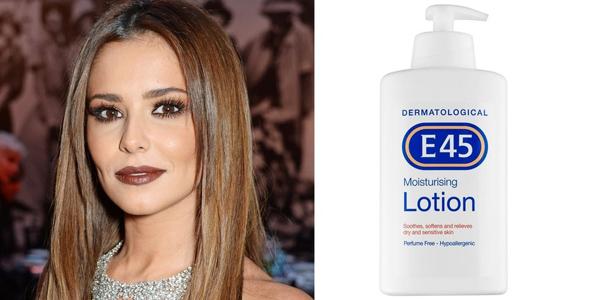 Cheryl không sử dụng kem dưỡng đắt tiền mà chỉ tin dùng E45 Moisturising Lotion, sữa dưỡng da có giá chỉ 100.000 đồng (4,5 USD).