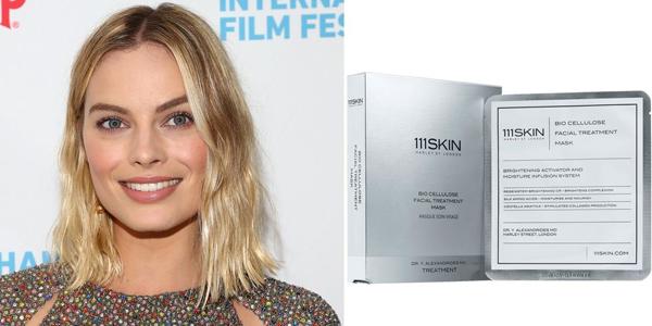 Margot Robbie tiết lộ với tạp chí Vogue rằng cô phát cuồng vì mặt nạ 111Skin Bio Cellulose Facial Treatment Mask.